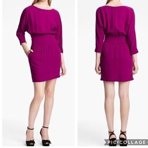 Halston Heritage Crepe Dress in Bright Magenta NWT